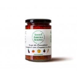 Sugo con Pomodoro Ciliegino con Olive e Capperi 98 gr