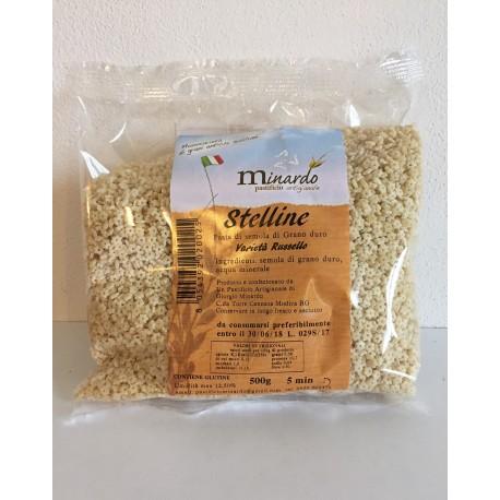 """Stelline di grano duro antico """"RUSSELLO"""" 500 gr"""