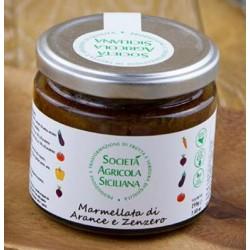Marmellata di arance di Sicilia e zenzero 220 gr